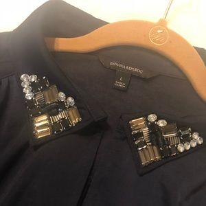 Tops - Banana Republic shirt with embellished collar